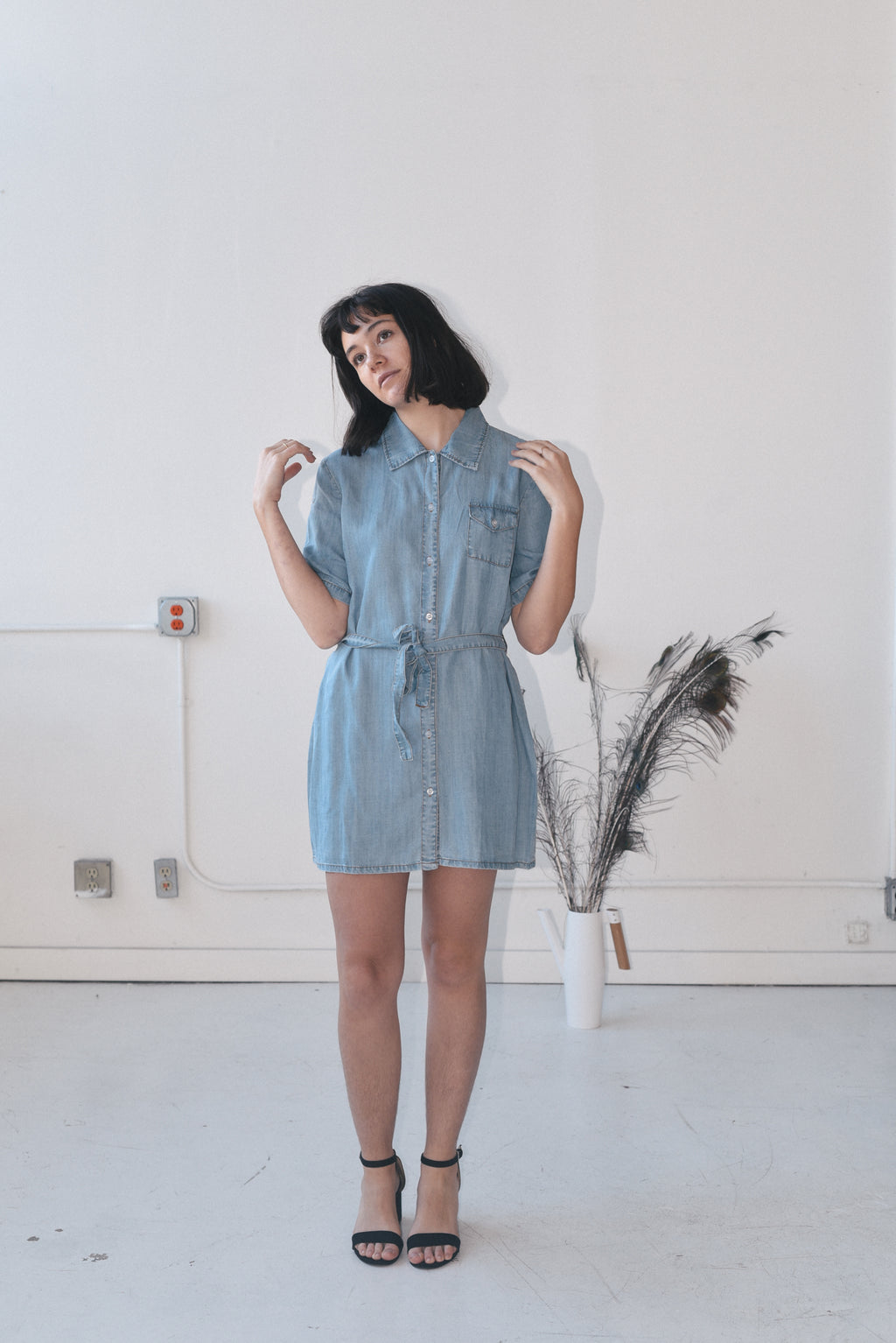DAISY DOLL DENIM DRESS