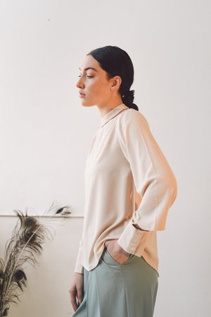 DANDY-ART CREAM BLOUSE