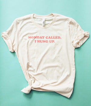 Love Frankie Studio - Monday Called Natural Salmon Tee