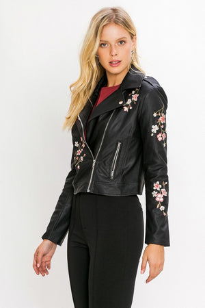 BABY ROSE VEGAN LEATHER MOTO