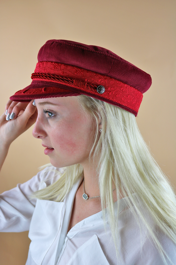Emily Conductor Hat | Red