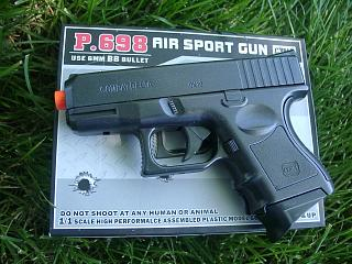 P698. P698 Glock Style Compact Spring Pistol