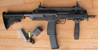 D89. High Power Electric Rifle MP7 w/Retracktable Stock, Fore-Grip