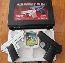 P328SB. P328 Compact Spring Pistol One Silver & One Black