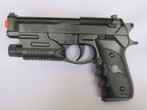 M757R. M9 Beretta Style Spring Pistol with Laser