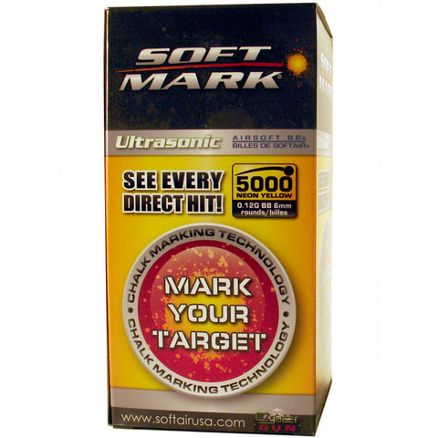 Soft Air Soft Mark .12g Marking 6MM BB's - 5,000ct ( Fluo Yellow )
