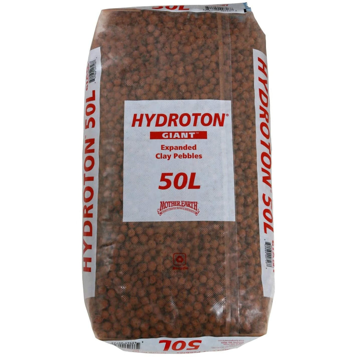 Hydroton Original Expanded Clay Pebbles, 50 Liter, Terra Cotta (Mother Earth)