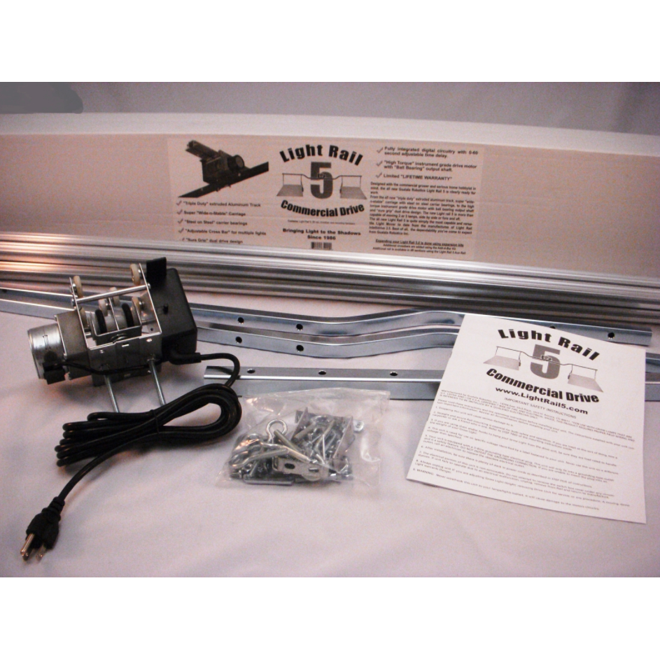LightRail 5.0 Commercial Light Track Drive Kit - Aquaponics For Life