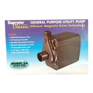 Mag-Drive Supreme 24 – 2400 GPH water pump - Aquaponics For Life