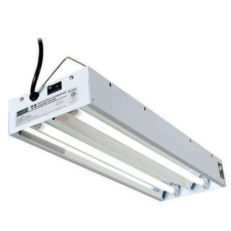 T5 Commercial 2 Tube Light System with Bulbs, 2ft - Aquaponics For Life
