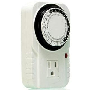 Grounded Timer, Single Outlet, 15 Min Cycle, 15 Amp, 24 Hour - Aquaponics For Life