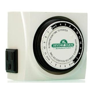 Dual Outlet Grounded Timer 15 Min Cycles, 15 Amp, 24 Hour - Aquaponics For Life