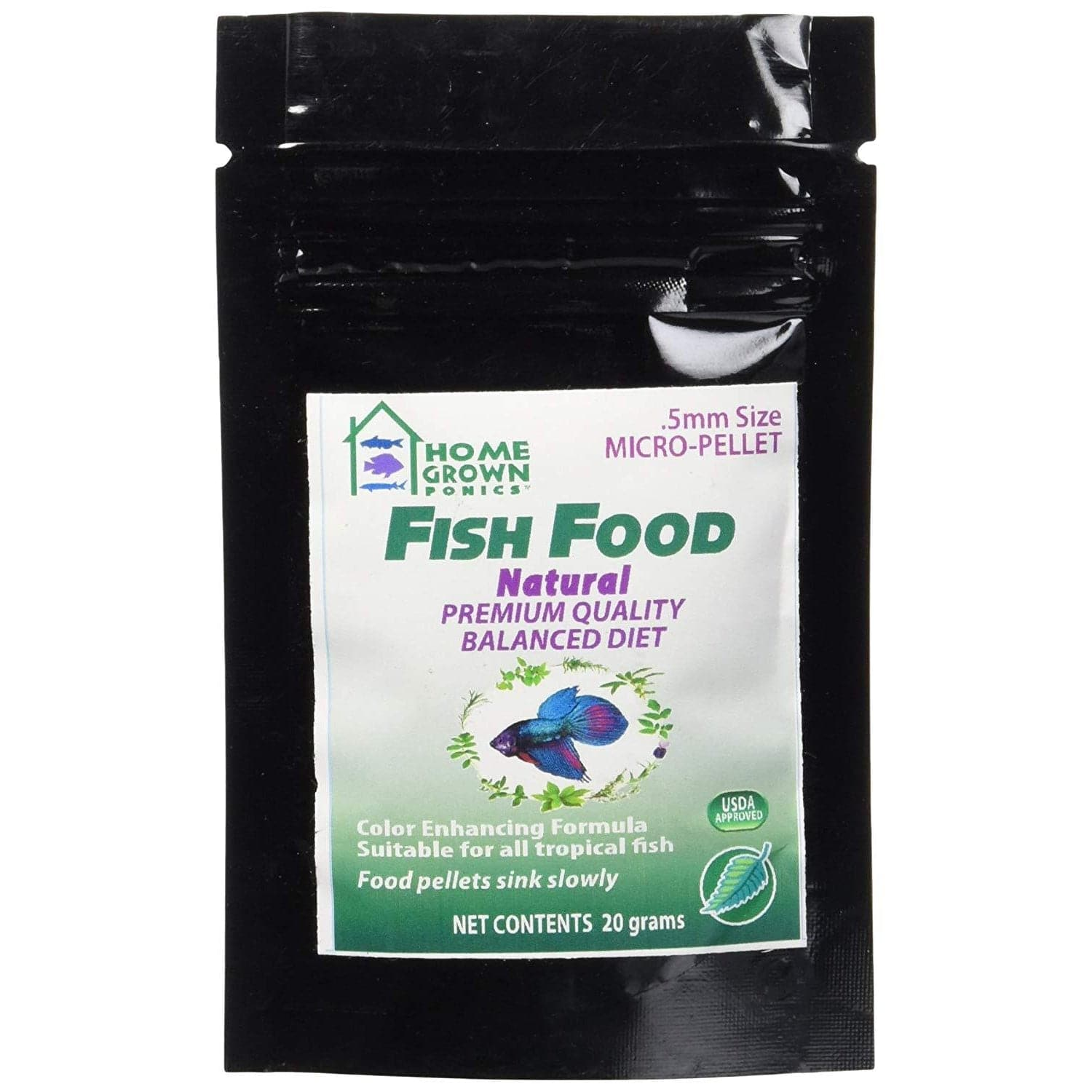 Ornamental Fish Food – 20 grams - Aquaponics For Life