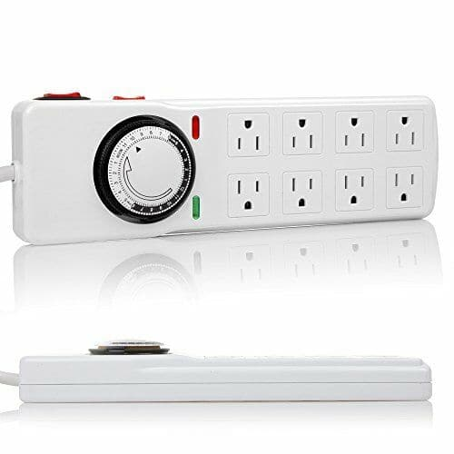 Surge Protector with 8 Outlets & Timer - Aquaponics For Life
