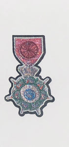 Medal iron on patch