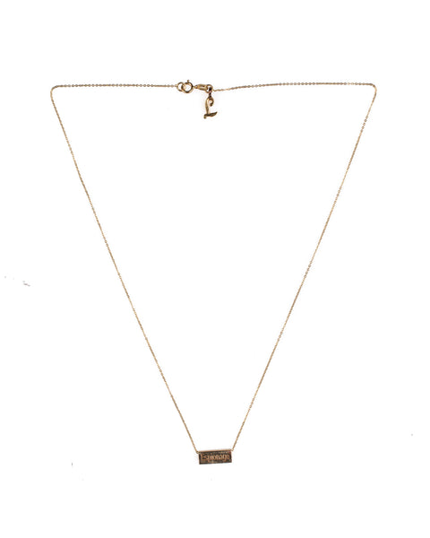 ESPIONAGE SIGNATURE NECKLACE // 14K SOLID GOLD