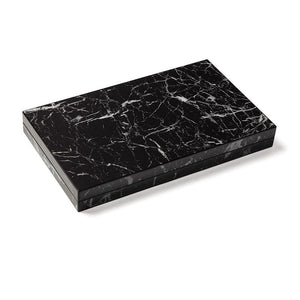 Black Marble Backgammon Set