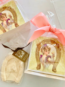 French Soaps in Hand Glittered Gift Box