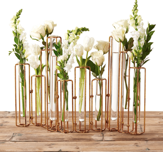 Rustic Gold Hinged Vase