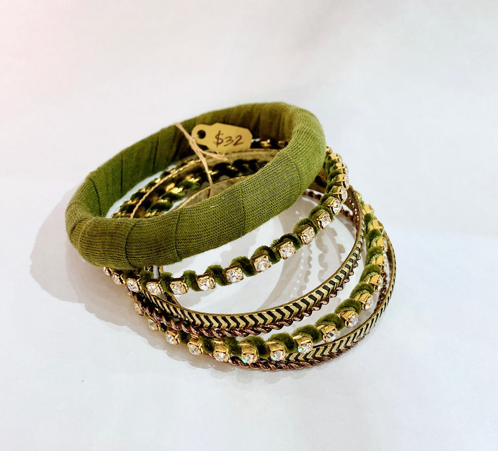 Green Bangle Set