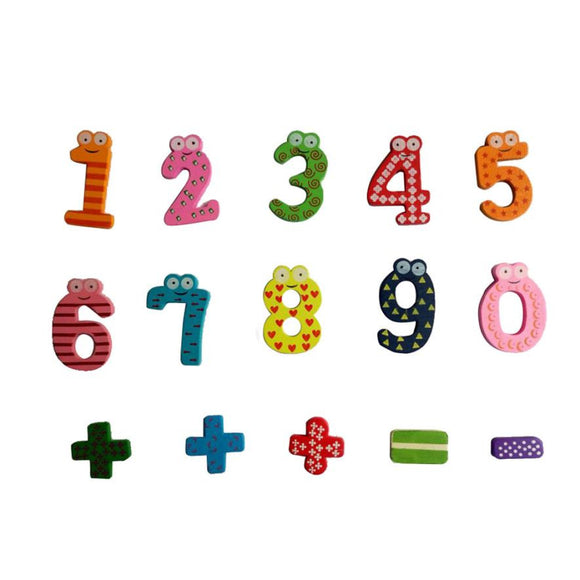 Kids toy Wooden number sign fridge magnet Math toy Educational toys for children
