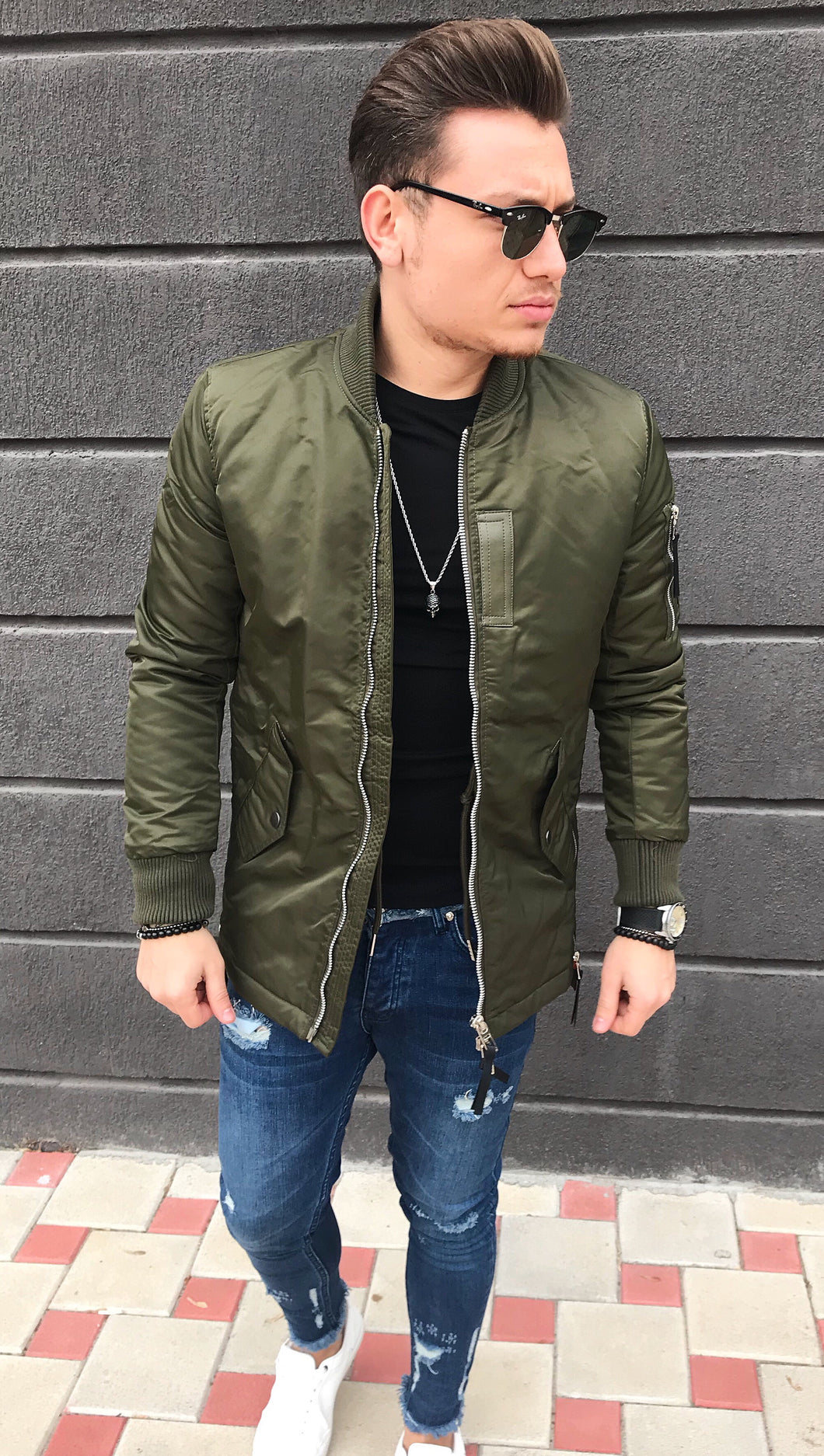 ZIPPER JACKET GREEN