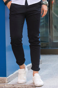 Pantaloni Casual Slim BLACK