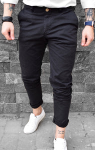 Pantaloni Casual Slim-Black