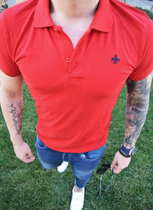 Tricou Slim Fit Polo Rosu