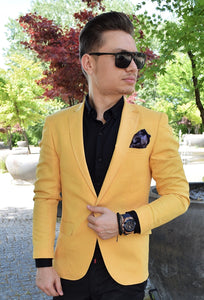 Sacou slim fit Yellow