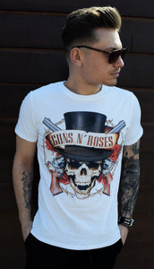 TRICOU GUNS N' ROSES WHITE