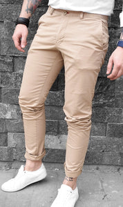 Pantaloni Casual Slim-Brown