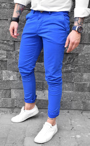 Pantaloni Casual Slim-Electric Blue