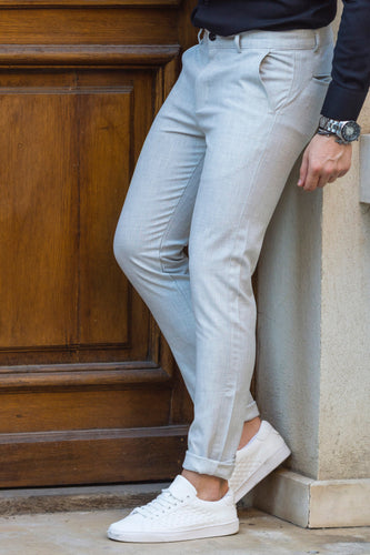 Pantaloni casual slim GREY