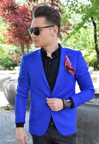 Sacou slim fit Blue