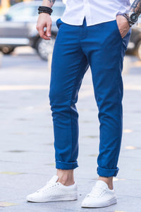 Pantaloni Casual Slim SS BLUE