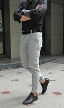 Pantaloni Casual Slim Grey Line