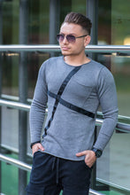 Pulover Pocket Line Grey