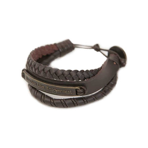 Ksae Leather Bracelet • Brown