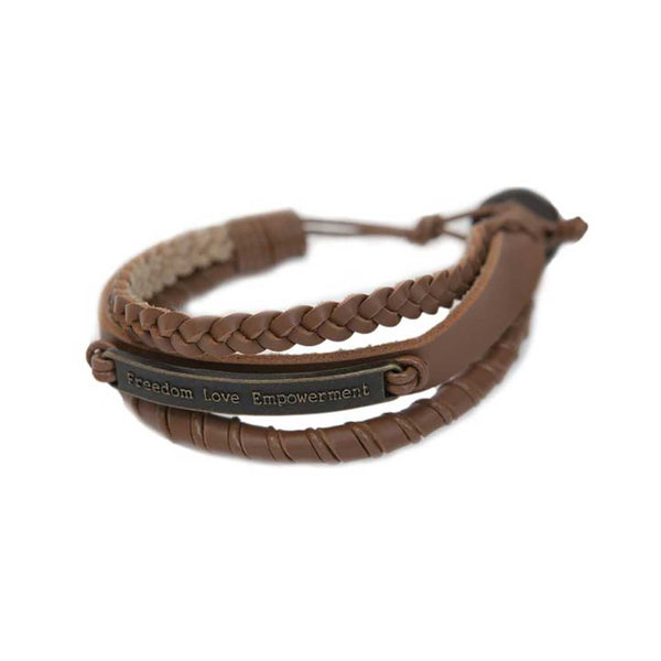 Ksae Leather Bracelet • Tan