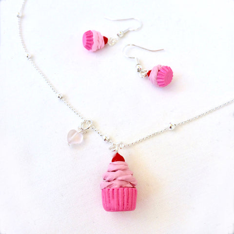Cupcake Necklace • Pink Berry