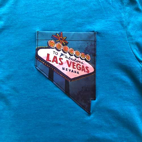 Home Means Nevada Shirt - Welcome Teal
