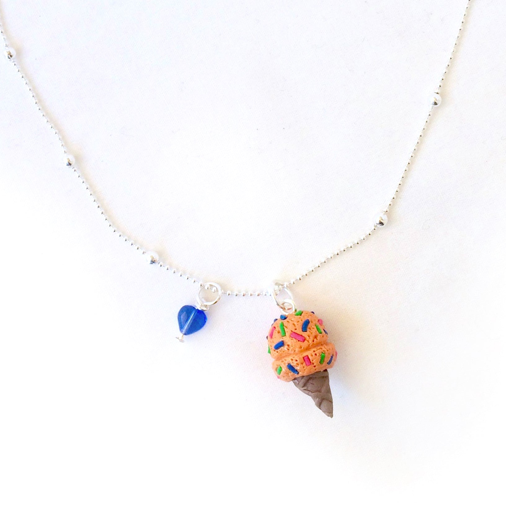 Ice Cream Necklace • Orange Neon