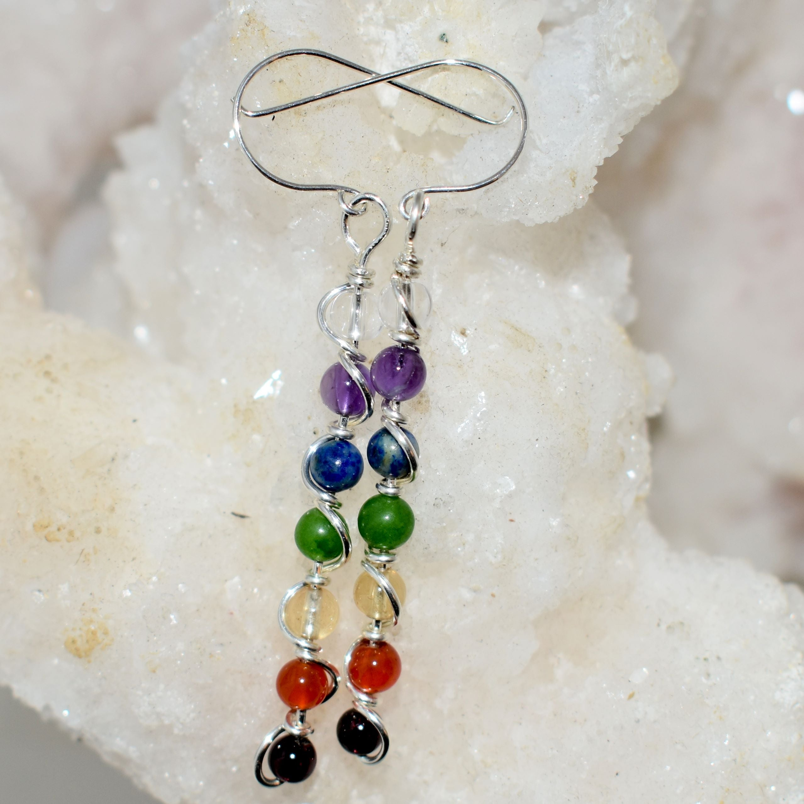 Chakra Double Helix Earrings