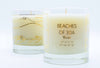 Beaches of 30a Map Candle