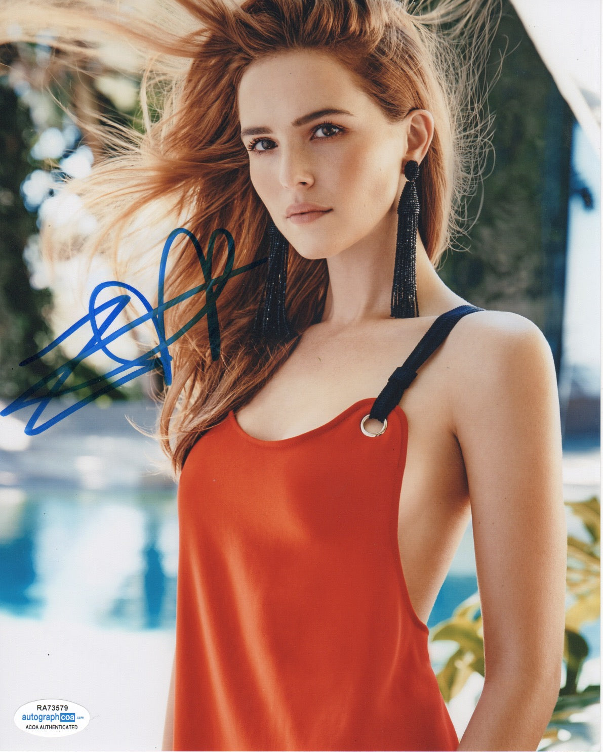 Zoey Deutch Sexy Signed Autograph 8x10 Photo #4