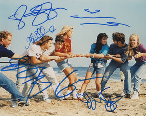 90210 Jenne Garth Ian Ziering Tori Spelling Brian Austin Green Shannen Doherty Signed Autograph 8x10 Photo ACOA - Outlaw Hobbies Authentic Autographs