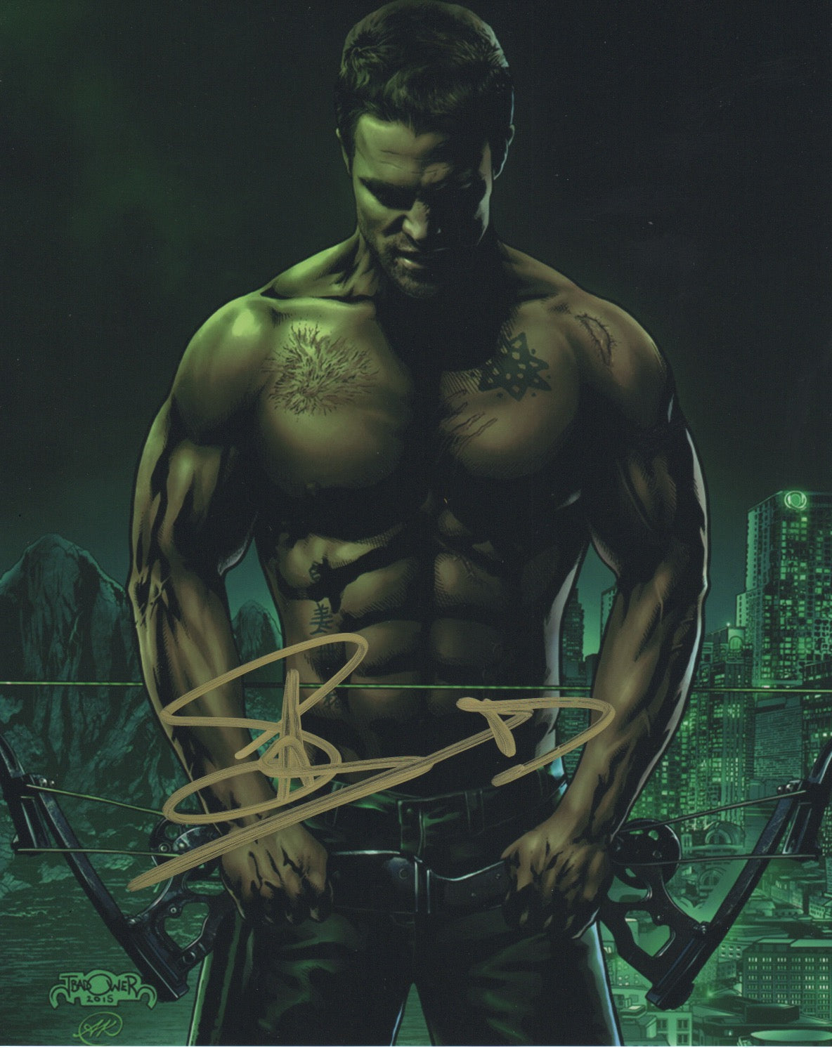Stephen Amell Arrow Autograph Signed 8x10 Photo #13 - Outlaw Hobbies Authentic Autographs