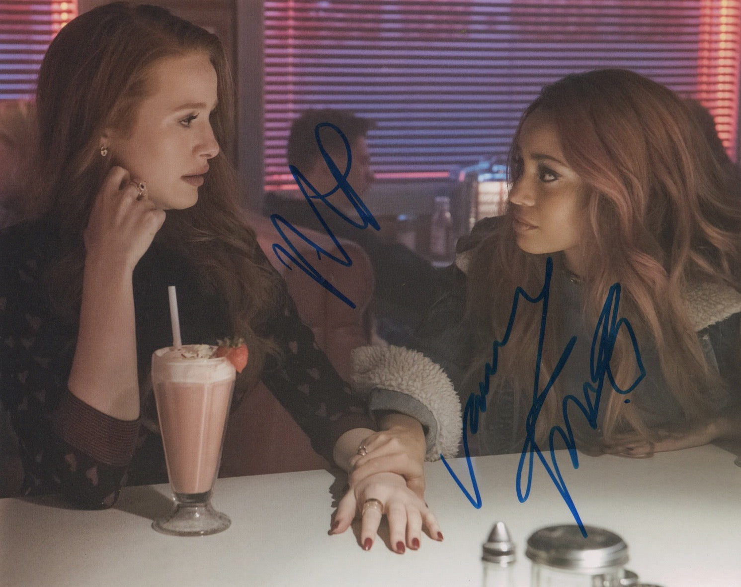 Madelaine Petsch Vanessa Morgan Riverdale Choni Signed Autograph 8x10 Photo #2