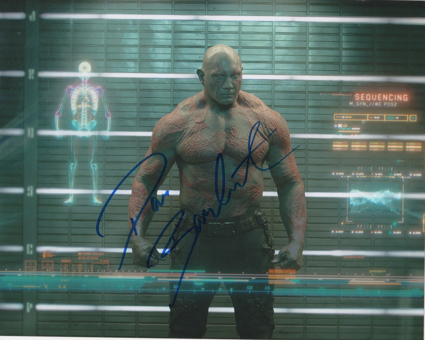 Dave Bautista Guardians of the Galaxy Signed Autograph 8x10 Photo